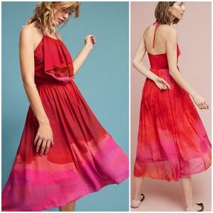 NWT ANTHROPOLOGIE Tracy Reese Cascade Halter Dress